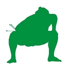 Sumo Wrestler Silhouette v6 Decal Sticker